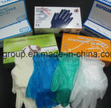 Guanti liberi del vinile della polvere libera a gettare per uso medico
