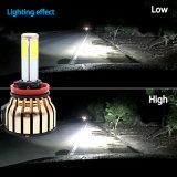 Lampadina eccellente dell'automobile più luminosa LED con il più nuovo faro della PANNOCCHIA LED dei lati 100W 4 di promozione per l'indicatore luminoso del motociclo e dell'automobile LED (6000K 8000K H4 H11 H7)