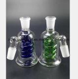 Der blaue, grüne gewundene Filter, der Glasrohr von aufbereitet, bereiten Sortierfach auf