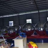 كبيرة مزدوجة مستديرة فضّيّة [بفك] قابل للنفخ نمو عرض مرآة كرة