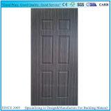 Sapeliの自然なベニヤは6パネル・ドアの皮の合板を形成した