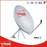 90cm Banda Ku satélite galvanizado Dish Antenna