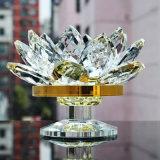 De Houder van de Kaars van Lotus van het Glas van het kristal voor de Decoratie van het Huwelijk van het Huis