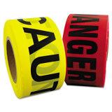 赤く黄色い安全警告のプラスチックPEの障壁テープ