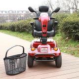 vespa eléctrica de la movilidad de lujo de la anciano de las ruedas 800W cuatro con el regulador de la paginación