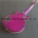 De color púrpura guitarra eléctrica con dos orejas y Hardware de plateado a rayas de tigre (GP-27)