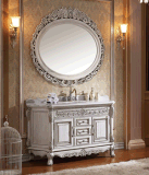 Governo classico di vanità della stanza da bagno di vanità del Governo di stanza da bagno di legno solido (LZ-132)