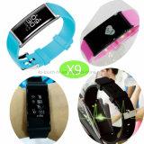 Wristband Bluetooth/франтовской браслет с шагомер X9 отслежывателя пригодности Monitor&Watch тарифа сердца
