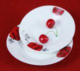 Articoli per la tavola rossi di figura rotonda del fiore/piatto di ceramica