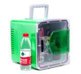 Litro DC12V do refrigerador 8 da porta transparente mini, AC100-240V na função refrigerando e de aquecimento