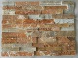 Le Quartzite de ciment panneau mural en ardoise cultivées pour la maison de pierre