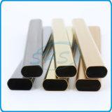 Soldada de acero inoxidable tubos ovalados de caras planas (tubos) con Titanium-Plated para autos
