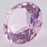 기계는 다른 색깔을%s 가진 수정같은 유리 다이아몬드 사무실 문진을 만들었다