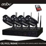 4CH 720p impermeabilizzano il kit della macchina fotografica della casa di obbligazione del CCTV di IR WiFi NVR di schiera