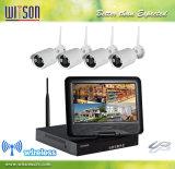 La vidéosurveillance HD 4CH Wireless WiFi intégré du système de caméra avec moniteur LCD 10 pouces