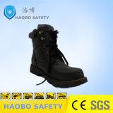 Calzature calde antiscorrimento di sicurezza della punta d'acciaio di cuoio dell'OEM per l'inverno