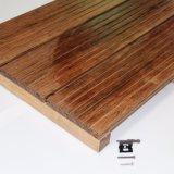Suelo de bambú al aire libre de China con el bambú tejido hilo