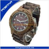 Houten Horloge van de Dames/van de Mensen van 100% het Milieuvriendelijke Materiële