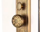 Bloqueo antiguo amarillo de la maneta de puerta exterior para la puerta de entrada/la puerta del sitio