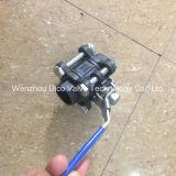 Válvula de bola de acero al carbono 3PC