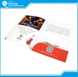 Pasta de apresentação de papel de impressão com fenda de cartão de visita
