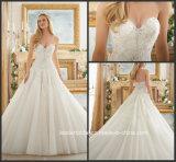 Vestido de casamento nupcial 2017 Mrl2877 de Tulle do espartilho do laço dos vestidos de esfera do querido