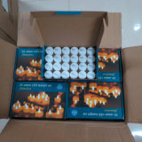 Kundenspezifisches Großhandelsweihnachten verzierte flammenlose elektronische Kerze LED-Tealight