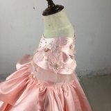優雅なレースのサテン党イブニング・ドレスの女の子の服Rsl008