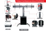 """Video Conference Dual Stand Screen 30-60 """" Lockable Cabinet (VRS 2000)"""