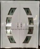 Porta de aço americana da segurança da porta exterior da porta do vidro Tempered (EF-G005)