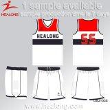 Chemises chaudes de basket-ball de ligue d'université de sublimation de teinture de vitesse de sports de vente de Healong