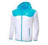 남자 여자는 방풍 재킷 운영하는 자전거 타는 사람 옥외 운동 두건이 있는 외투를 방수 처리한다