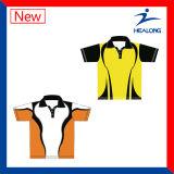 Chemises de polo de vêtement de Healong Chine de vitesse des hommes en gros de sublimation à vendre