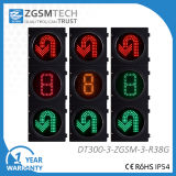 ZgsmのUターンの交通信号の円形の赤い回転円形の緑および秒読みのタイマー