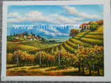 Amoyの芸術の分布の研修会からのハンドメイドのブドウ園の油絵