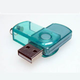 Giratorio transparente USB Pen Drive 1gb unidad Flash USB de plástico de 8GB