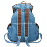 Leisure Canvas Campus School Student Bag Mochila de ombro dupla