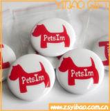 Distintivo personalizzabile del tasto/distintivo tasto dello stagno con il marchio stampato per il regalo di promozione (YB-SM-02)