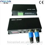 Marcação&RoHS DMX512 RGBW Controlador de LED de 4 CANAIS/ 5V <80W: 12V: <192 W, 24V: <384 W DMX 512 Controller