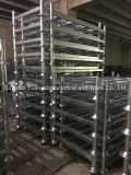 ポストのスタック可能頑丈で熱い電流を通された倉庫の鋼鉄パレット