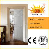 Porta de entrada interior da madeira contínua da fábrica de China (SC-W137)