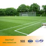 Il prato inglese artificiale di calcio, mette in mostra il prato inglese artificiale, prato inglese artificiale di gioco del calcio