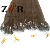 Micro estensioni dell'anello dei capelli indiani umani di Remy