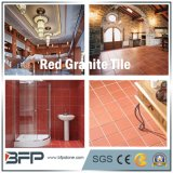 Red naturale Granite Floor Tile con Polished/Flamed Surface per Floor Wall Step Window Sill