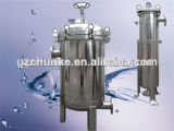 Alloggiamento del filtro a sacco dell'acciaio inossidabile con il collegamento della flangia