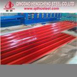El recubrimiento de zinc de color Sky-Blue Hoja del techo de acero