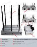 Antena 6 de escritorio de alta potencia Jammer para WiFi 2G CDMA GSM 3G 4G Wimax GPSL1-L5 UHF, VHF, un perturbador para el coche Control remoto