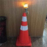 Do cone solar do tráfego da segurança de estrada do diodo emissor de luz luz de advertência de piscamento