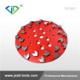 Pulido de diamantes de 250 mm de rueda de la Copa del suelo y trituración de concreto