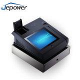"""posición directa del tacto de la visualización de 9.7 """" LCD con la impresora de la huella digital y del programa de lectura de NFC"""